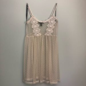 White lace beach cover up dress